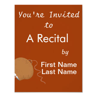 Round Cowbell Abstract Graphic Image Invitation