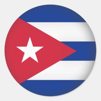 Round Cuba Round Sticker