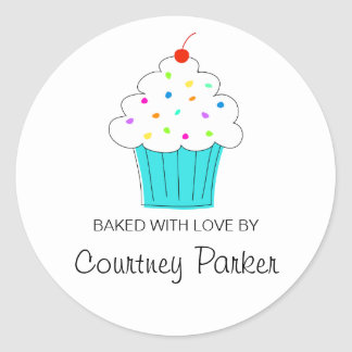 Round Cupcake Labels, From the Kitchen Of... Classic Round Sticker