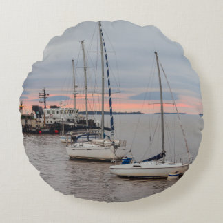 Round cushion Marina and Bateaux #1