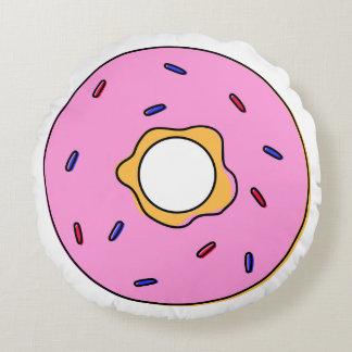 Round cushion pink doughnut