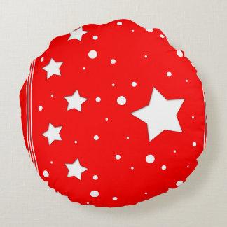 Round cushion - Stars on red bottom