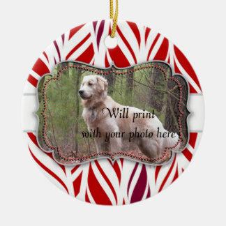 Round Custom Pet Memorial Ceramic Ornament