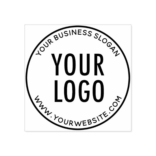 Round Custom Rubber Stamp With Your Company Logo