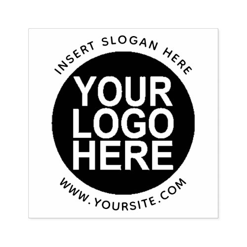 Round Custom Your Company Logo Rubber Stamp