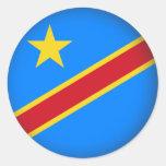 Round Democratic Republic of Congo Round Stickers