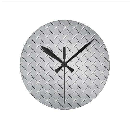 Round Diamond Plate Clock