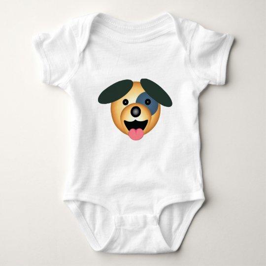 Round dog happy design baby bodysuit