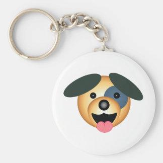 Round dog happy design keychain