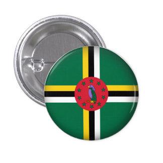 Round Dominica Button