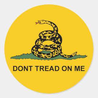 Round Dont Tread on Me Sticker -gadsden tea party