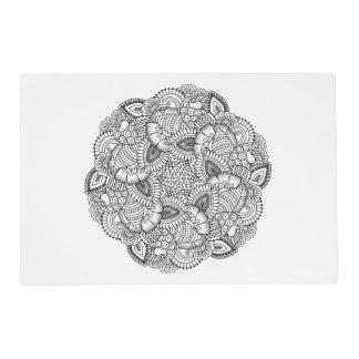 Round Doodle Design Placemat