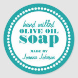 Round Dot Frame Soap Label Template Classic Round Sticker