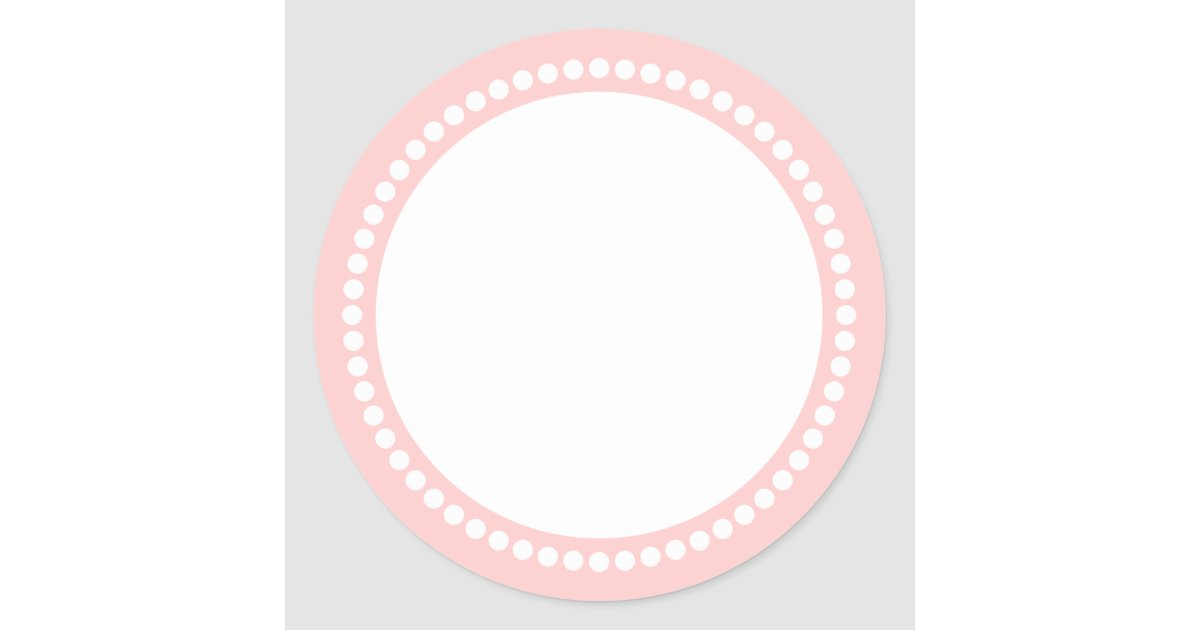 Round Dot Frame Sticker Template In Pink Zazzle Com