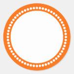 Round Dot Frame Template in Orange Sticker