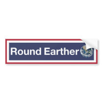 Round Earther Bumper Sticker
