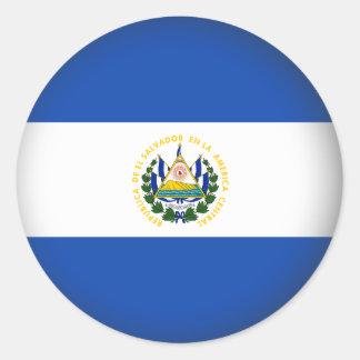 Round El Salvador Classic Round Sticker