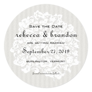 Round Elegant Save-the-Date Wedding Announcements