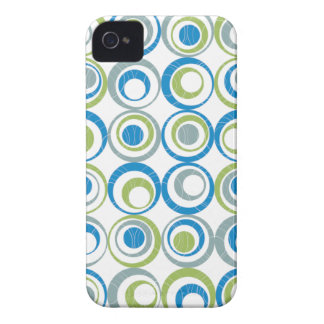 Round Elements Pattern iPhone 4 Cover