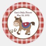 Round 'Em Up Birthday Baby Shower Favor Sticker