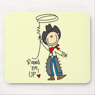 Round Em Up Cowboy Tshirts and Gifts Mouse Pad