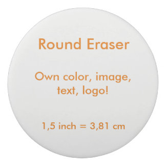 Round Eraser uni White ~ Own Color