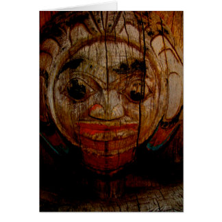 Round face totem notecard