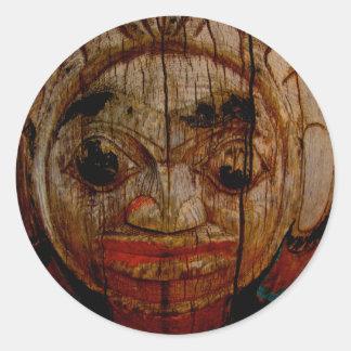 Round face totem sticker