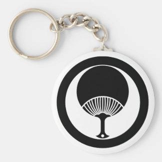Round fan in circle keychain