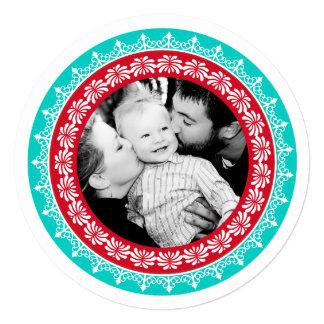 Round Festive Holiday Photo Cards