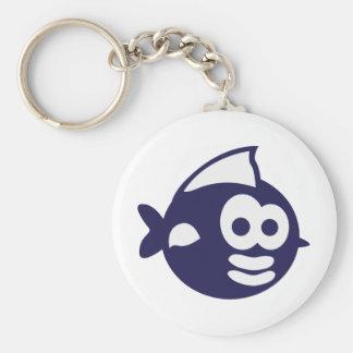 Round fish fish key chain