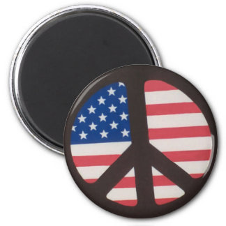 Round Flag Magnet