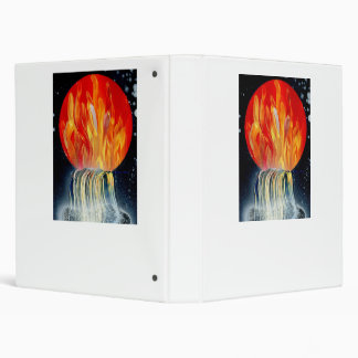Round Flame Planet Waterfall Spray Painting Binders