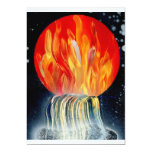Round Flame Planet Waterfall Spray Painting Personalized Invitations