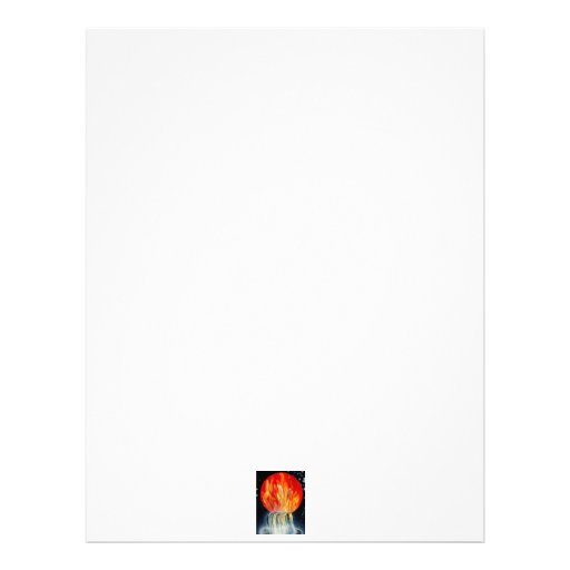 Round Flame Planet Waterfall Spray Painting Letterhead