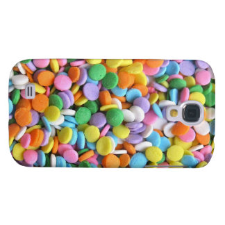 Round Flat Sprinkles Samsung Galaxy S4 Covers