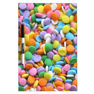 Round Flat Sprinkles Dry-Erase Boards