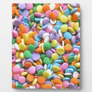 Round Flat Sprinkles Plaque