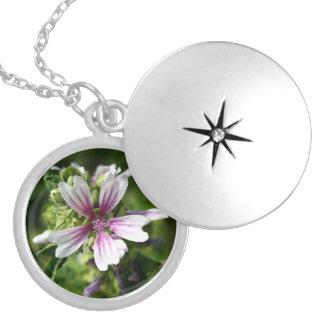 Round floral locket