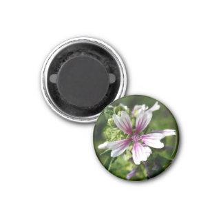 Round floral magnet