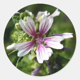 Round Floral Sticker