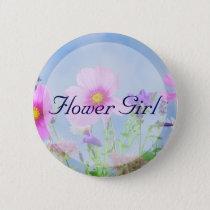 Round Flower Girl Floral Wedding Buttons
