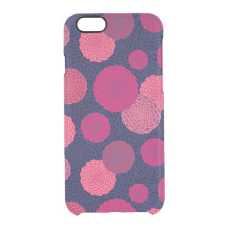 Round flowers pattern clear iPhone 6/6S case