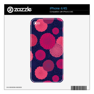 Round flowers pattern iPhone 4S skins