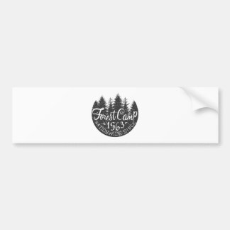 Round Forest Camp Vintage Bumper Sticker