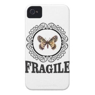 round fragile butterfly iPhone 4 cover