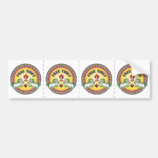 Round Free Tibet Bumper Sticker