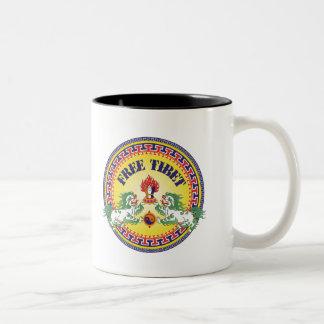 Round Free Tibet Two-Tone Coffee Mug