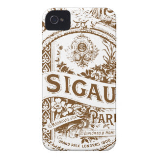 Round French Perfume Label iPhone 4 Case-Mate Case