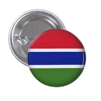 Round Gambia Pinback Button